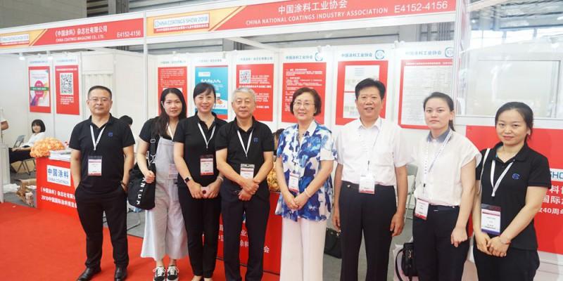 中国涂料工业协会秘书长阎永江一行参观展台