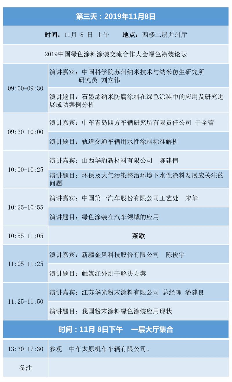 2019中国绿色工业涂料涂装高峰论坛日程05